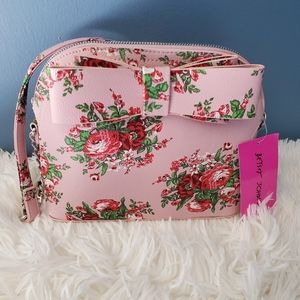 BETSEY JOHNSON - Pink/Multi Flower Purse w/Bow